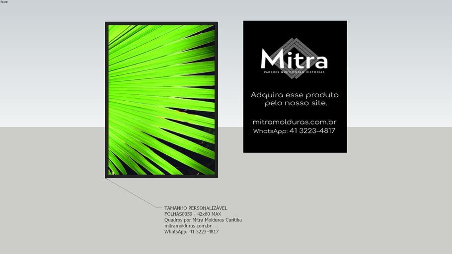 FOLHAS0059 - 42x60  l Quadro Abstrato l Mitra Quadros Personalizados