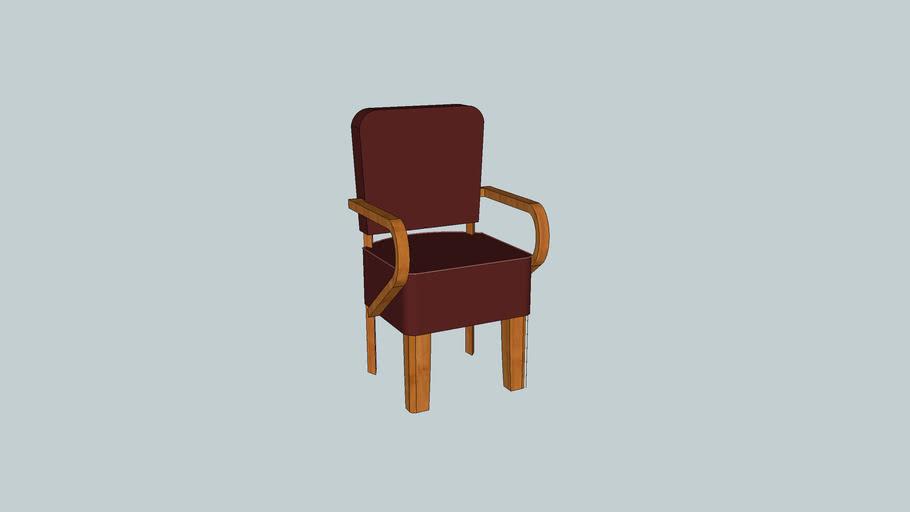 Chaise de salon bois-velours