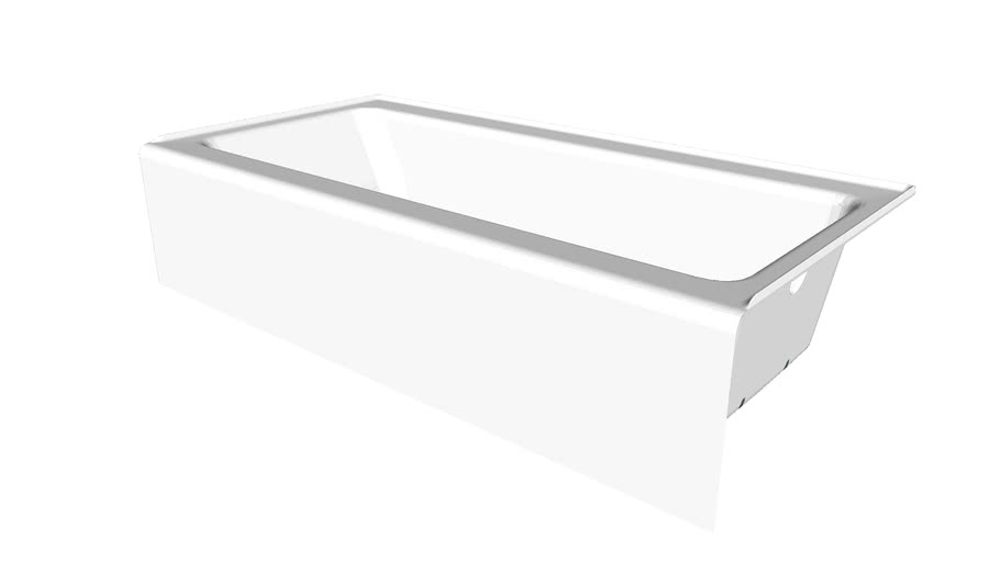 """K-837 Bellwether(R) 60"""" x 30"""" alcove bath with integral apron and left-hand drain"""
