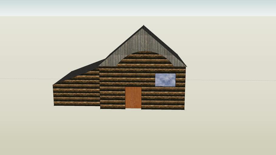 nice log house