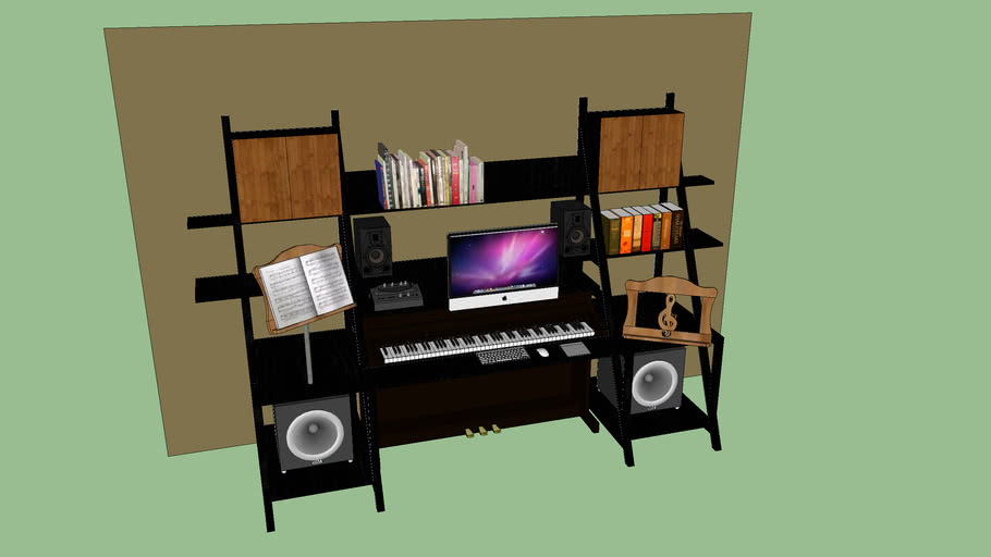 Leaning Music Composing Desk.