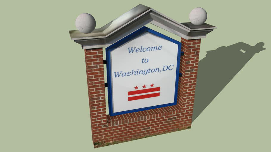 Welcome Sign Washington D.C.
