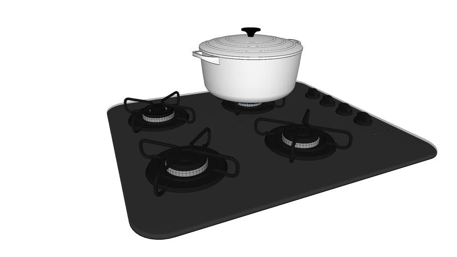 cooktop 4 bocas convertido