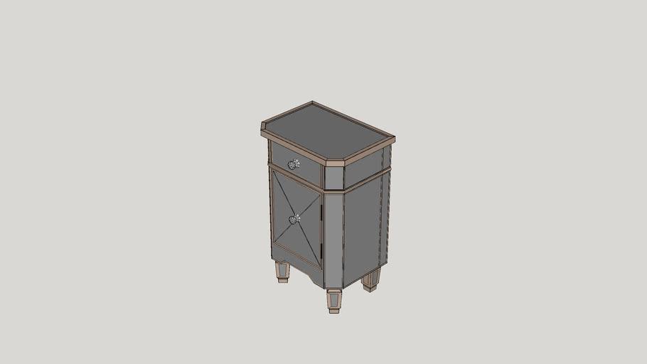 Rhiannon 1 Drawer Mirrored Cabinet