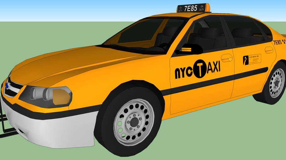 2002 Chevrolet Impala NYC Taxi 7E85 (CSI: NY)