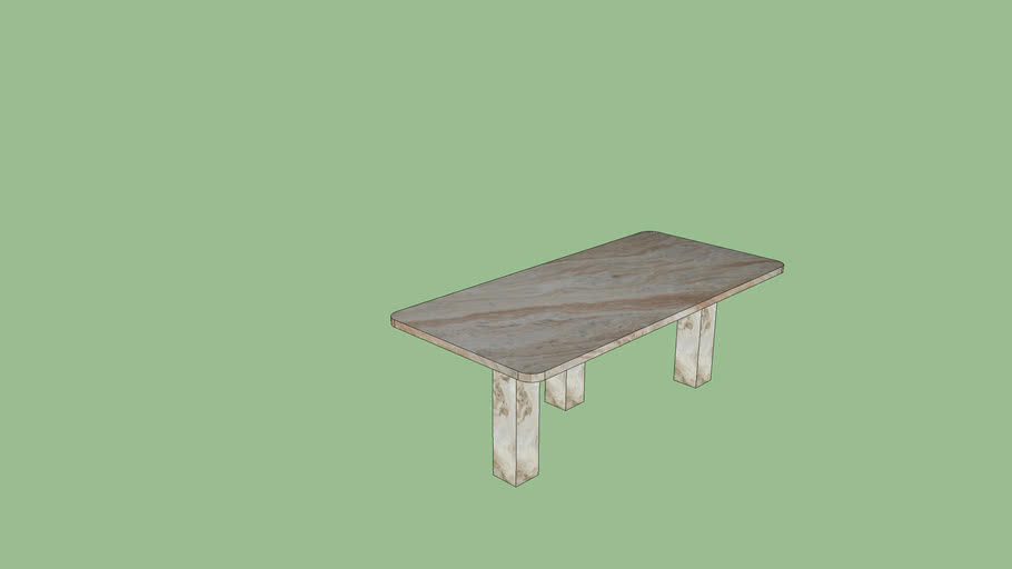CB2 STATEMENT MARBLE COFFEE TABLE