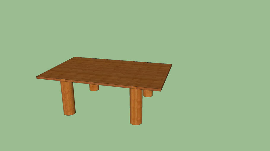 mesa simple de madera para jardín