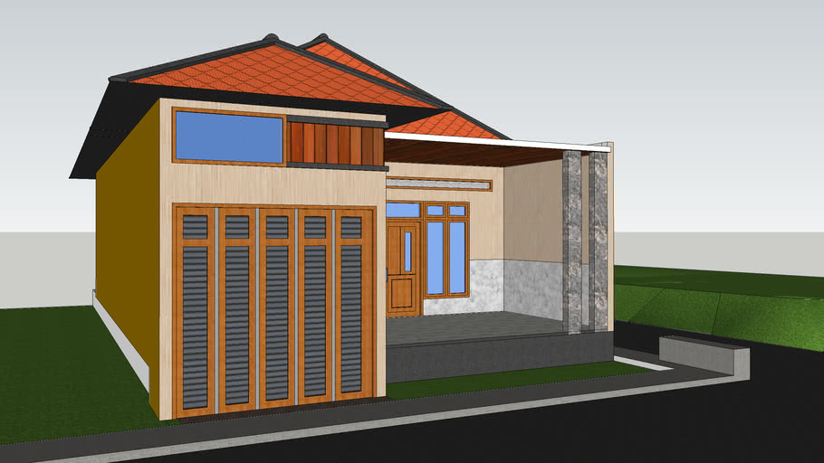 Rumah minimalis 8x16m