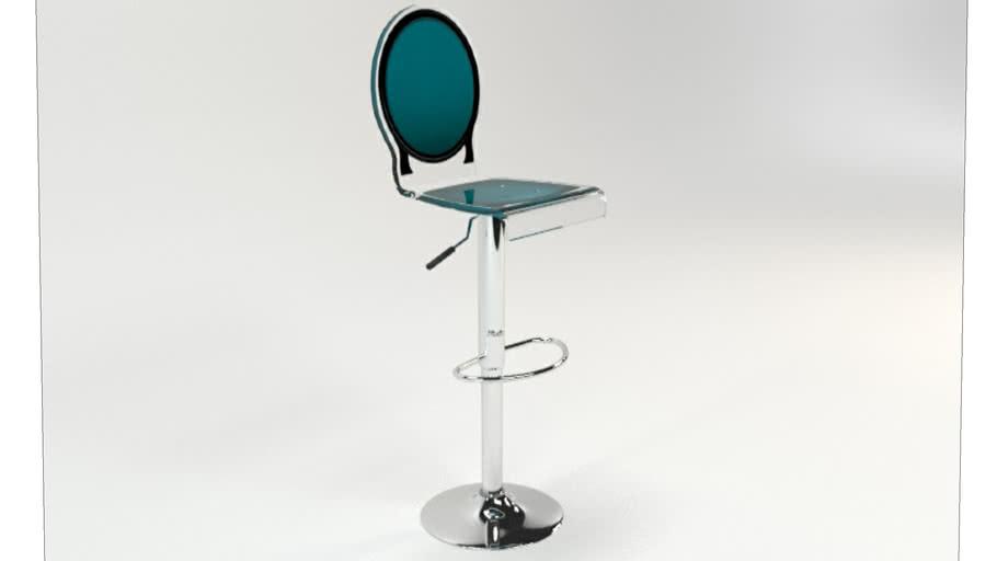 TABOURET SIXTEEN PIED VERIN VERT CANARD CONTOUR NOIR Acrila Furniture