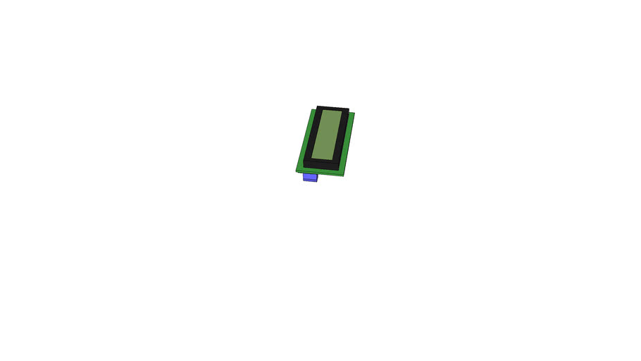 Sparkfun Serial Enabled 16x2 LCD - Black on Green