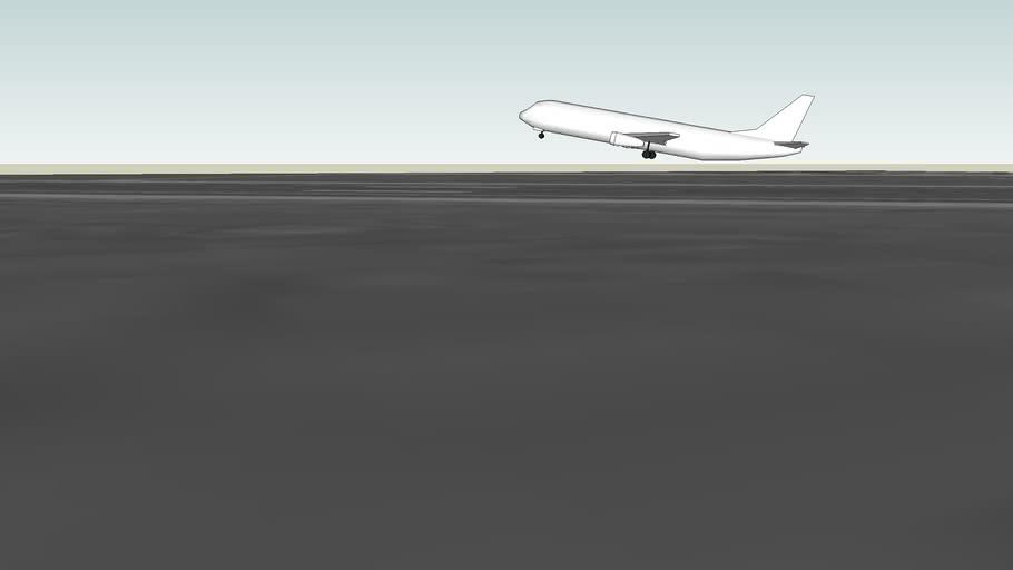 plane landing at maa