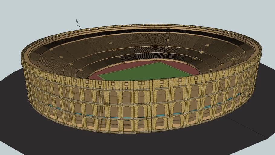 estadio de futbol tipo coliseo romano