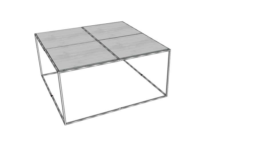 Table basse design zinc