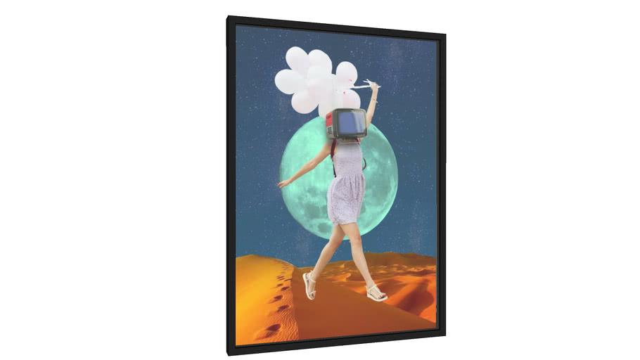 Quadro a menina e o balão - Galeria9, por inquadrus.design