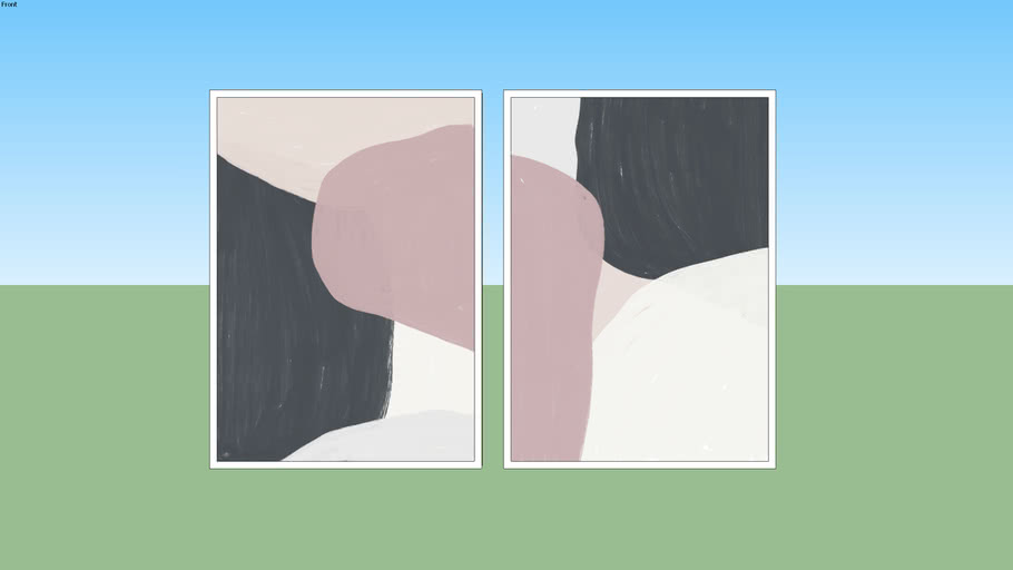 Conjunto de Quadros Aesthetic N.01 e Aesthetic N.02 - Rachel Moya