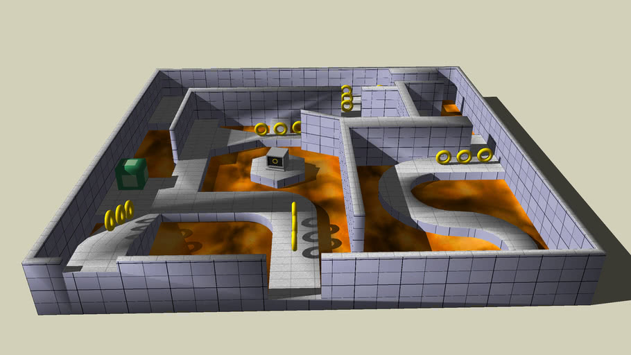 3D sonic, Marble zone