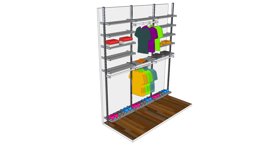 ISS Designs Modular Shelving - Closet Shelving System with Aluminum Shelves