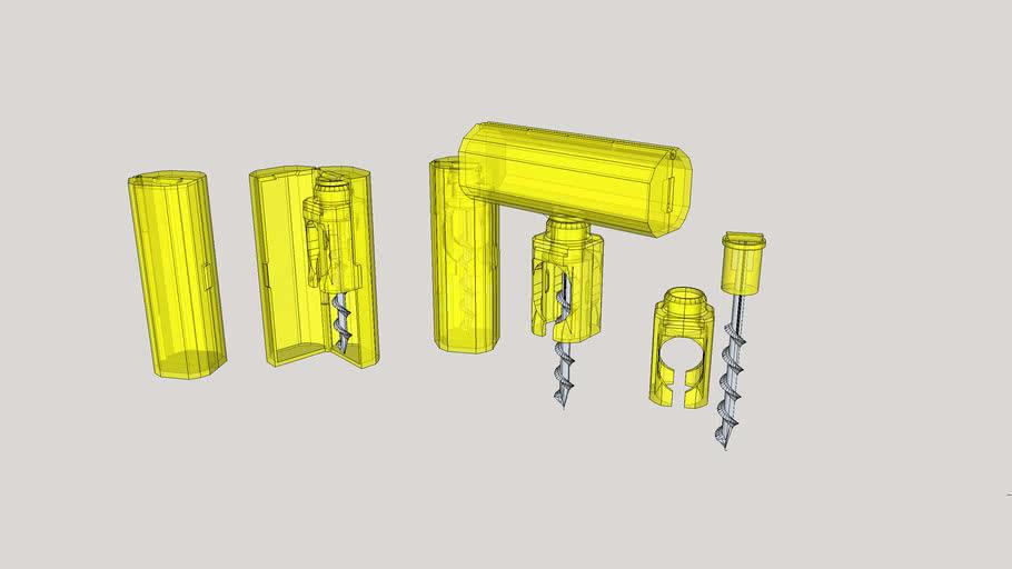 3D Picnic Corkscrew