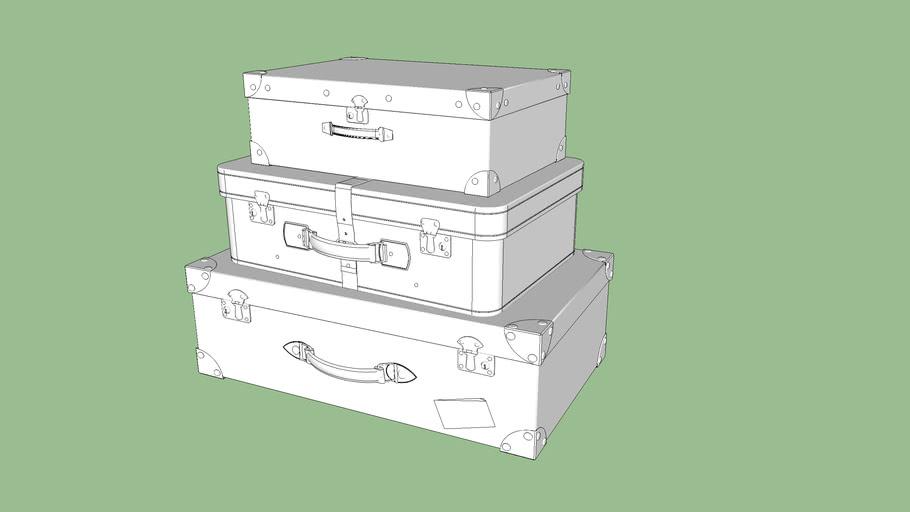 3 VALISES VINTAGE - 3 Vintage Suitcases