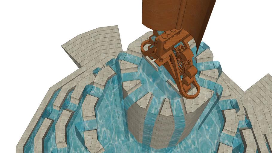 waterpartij met windkrachtdinges