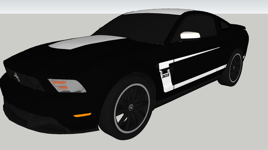 2012 Ford Mustang Boss 302 (Black and White)
