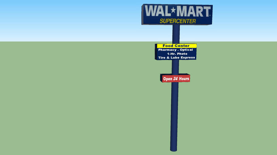 Walmart Supercenter Open 24 Hours Sign 2951 S Blue Angel Pkwy 32506