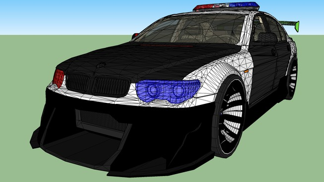 BMW police car