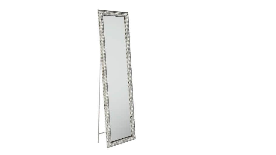 KARE 80889 Standing Mirror Silver Pearls 180x44 cm (Standspiegel Silver Pearls 180x48cm)