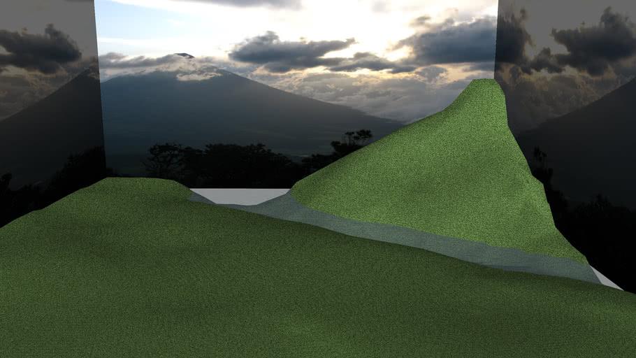 Mountain And Plains Landscape