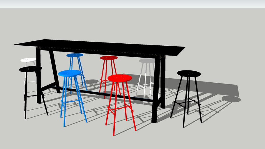 NamNam High Stools with Bykato High Table