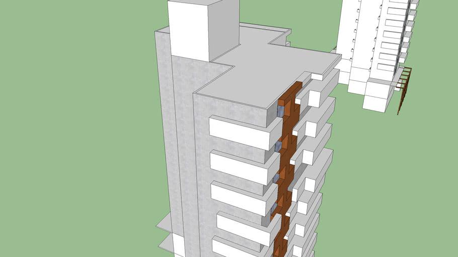 estudo de fachada materiais 2