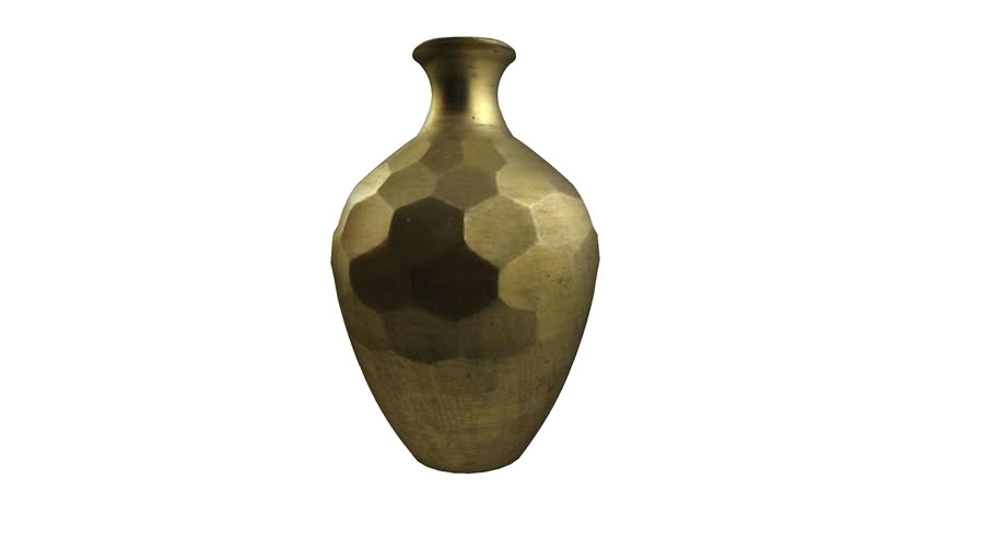 Golden rustic vase