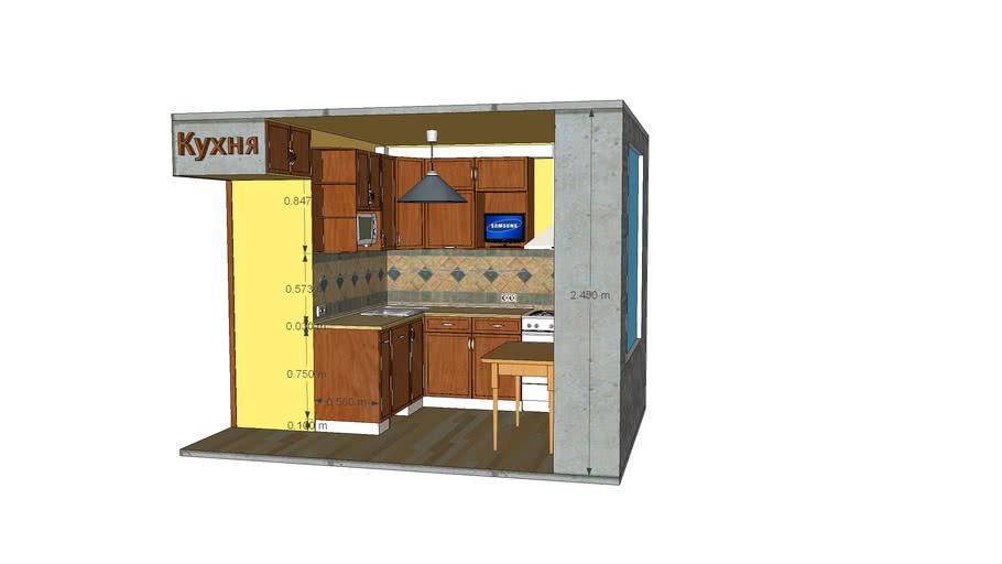 Кухня хрущевка 210 x 245