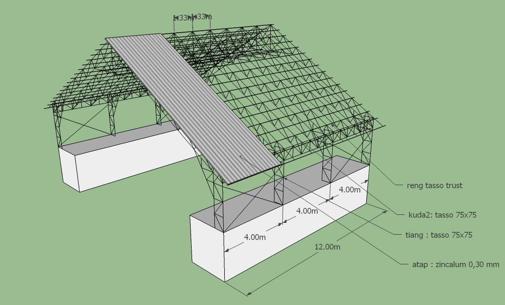 Rangka Atap Baja Ringan 3d Warehouse