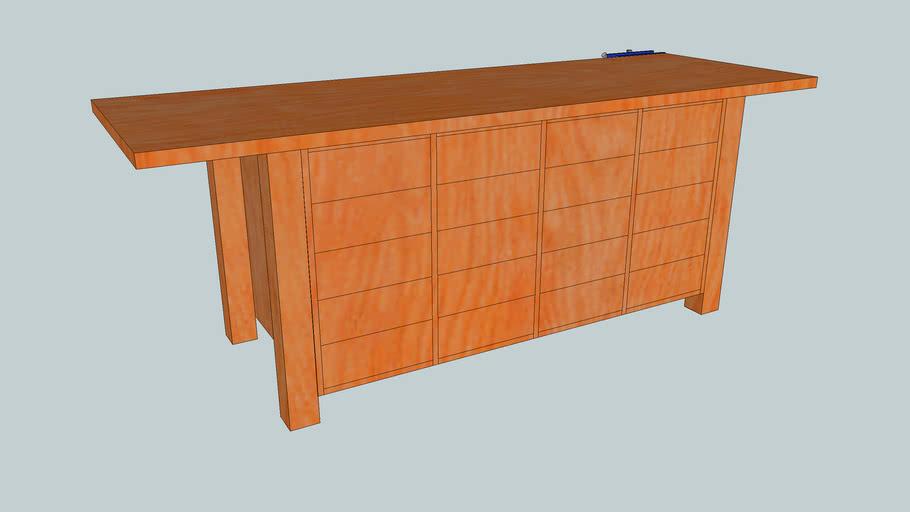 Workbench with tool storage