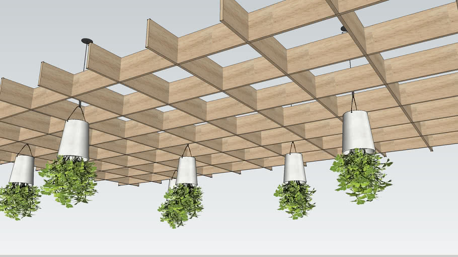 Waffle Green Ceiling 3d Warehouse