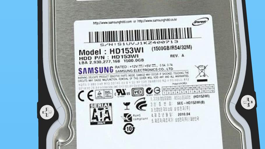 HDD Samsung HD153WI 1,5 TB Sata II