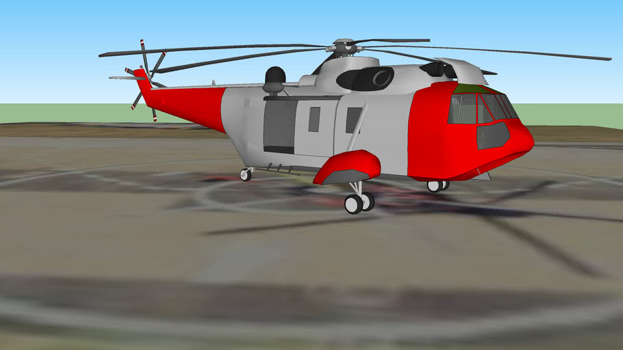 Search and Rescue Helicopter Sea King