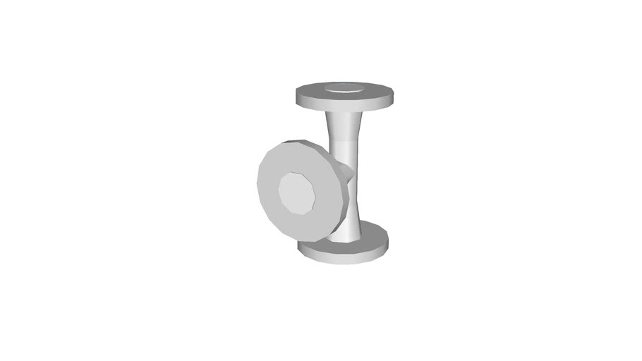 tee WN, 1�, low polygon with flange