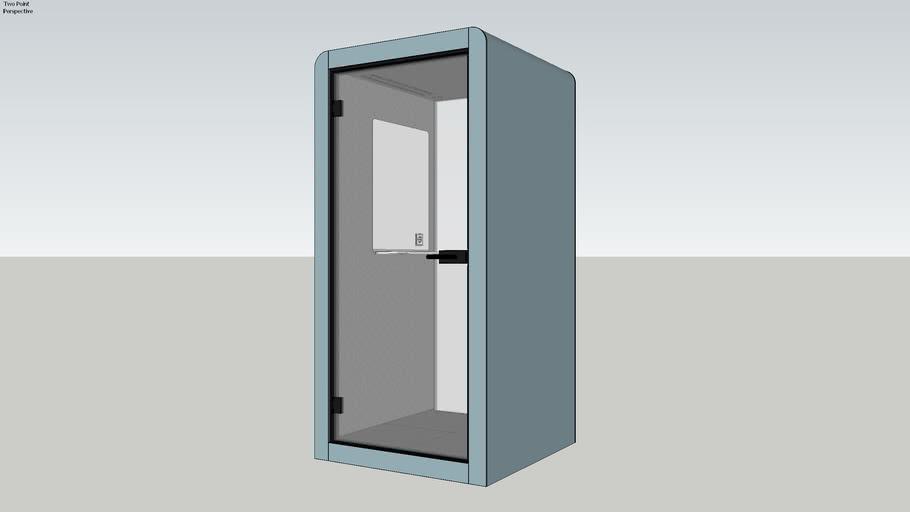 Silen Space 1 Frozen Blue Office Pod