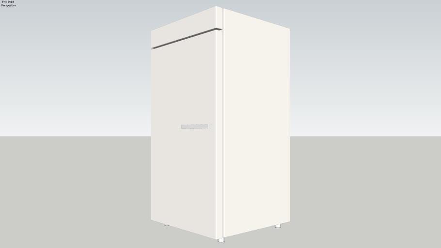 Large laboratory fridge   with V-ray materials