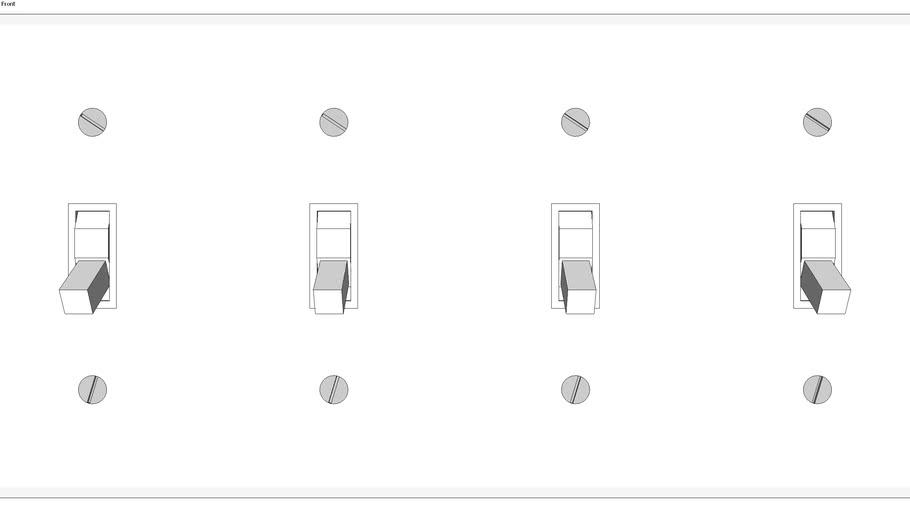 4 gang switch
