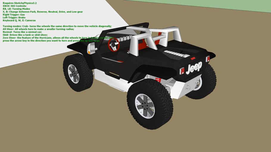 Sketchyphysics Jeep Hurricane