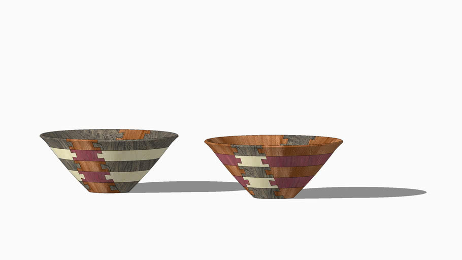 Double dovetail economy bowls