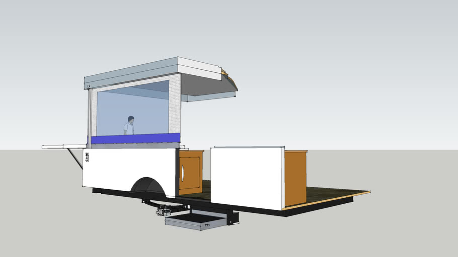 Coleman Tent Trailer Colored
