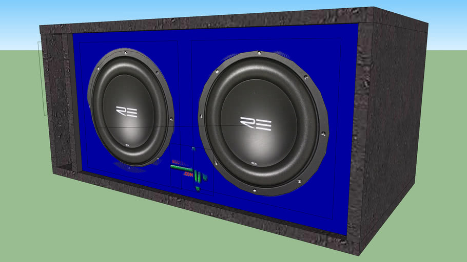 "Sub Box for Dual 10"" L-Port Tuned to 34Hz"