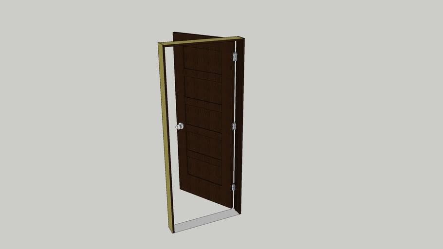 Interior prehung door