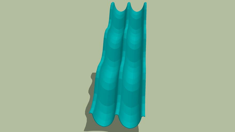 height: 150 cm waved twice slide