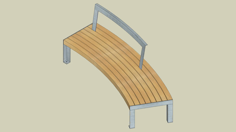 A11 55 4 80 bench 219/62, curved to a radiusof 4 m with backrest