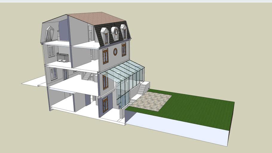 maquette numérique projet de pavillon